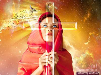 True Cross Digital Art Posters