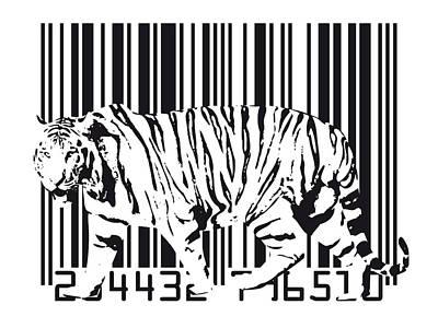 Tiger Cat Digital Art Posters