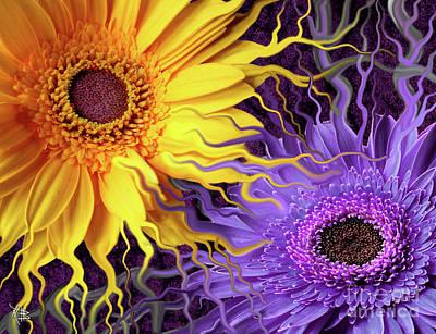 Floral Digital Digital Paintings Posters