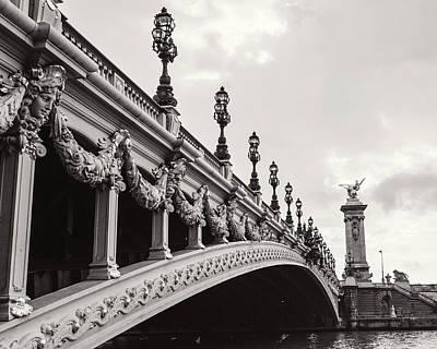 Black And White Paris Digital Art Posters