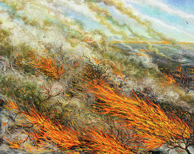 Combustion Paintings Posters