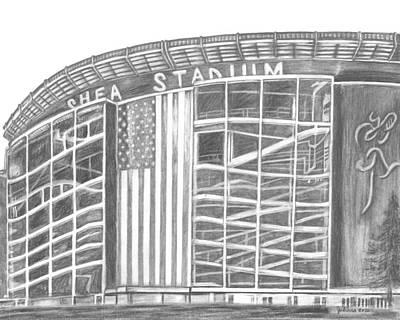 Shea Stadium Drawings Posters