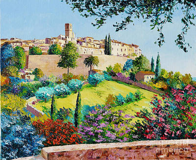 Provence Village Digital Art Posters