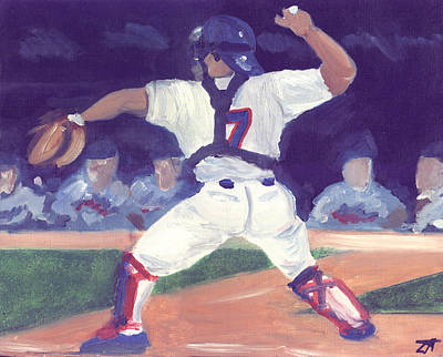 Pudge Rodriguez Paintings Posters
