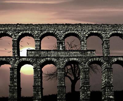 Roman Ruins Mixed Media Posters