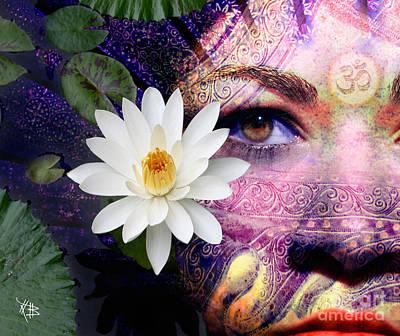 Hindu Goddess Mixed Media Posters