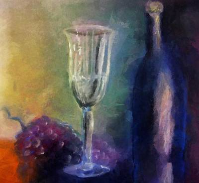 Wine Reflection Art Digital Art Posters