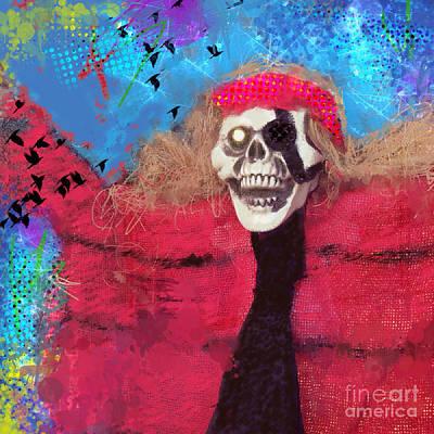 Red Robe Digital Art Posters