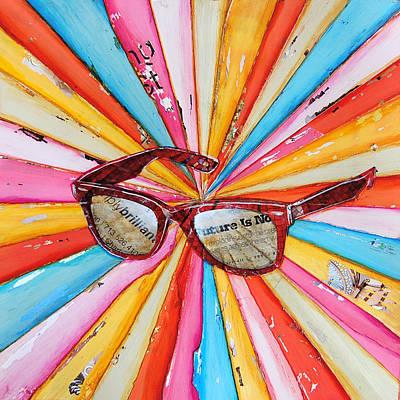 Sunglasses Mixed Media Posters