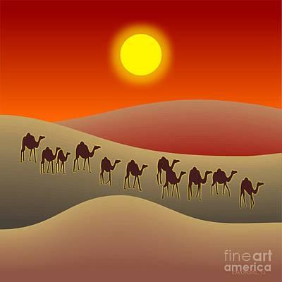 Sahara Sunlight Digital Art Posters