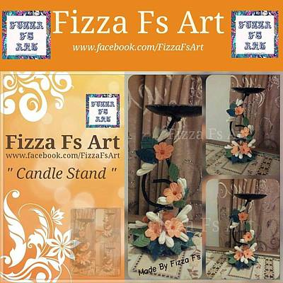 Candle Stand Mixed Media Posters