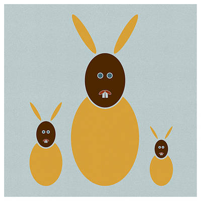 Rabbit Drawings Posters