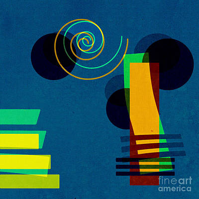 Blue Abstracts Digital Art Posters