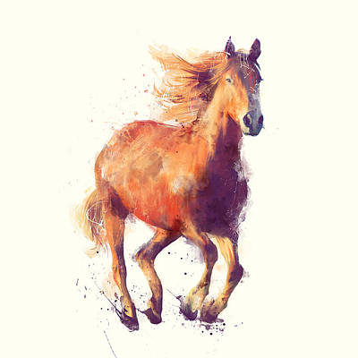 Wild Horse Mixed Media Posters