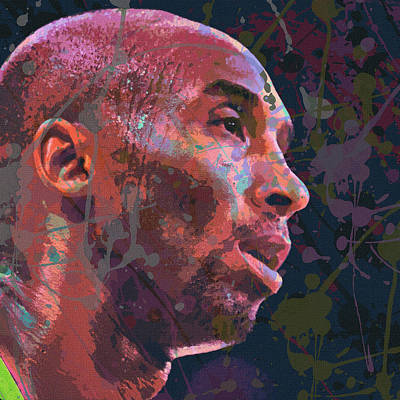 Kobe Bryant Abstract Paintings Posters