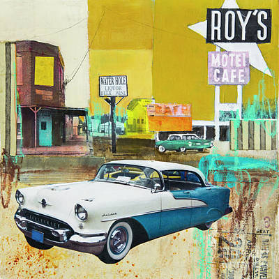 Automobile Mixed Media Posters