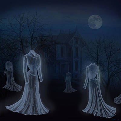 Ghost Story Digital Art Posters