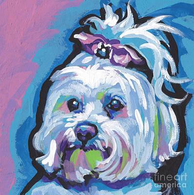 Maltese Dog Paintings Posters