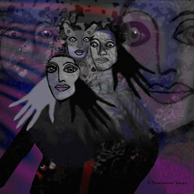 071 -  People Of   Night   Poster by Irmgard Schoendorf Welch