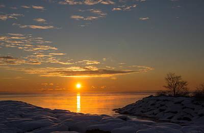 Poster featuring the photograph -15 Degrees Sunrise by Georgia Mizuleva
