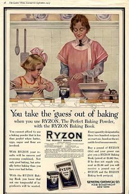 1917 1910s Usa Cooking Ryzon Baking Poster