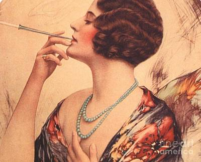 1920s Usa Women Cigarettes Holders Poster by The Advertising Archives