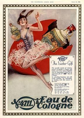 1928 1920s Uk 4711 Eau De Cologne Art Poster by The Advertising Archives