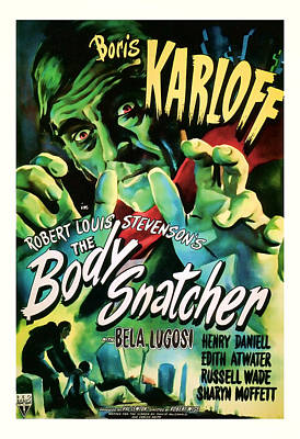 1945 The Body Snatchers Vintage Movie Art Poster