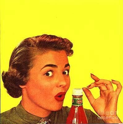 1950s Usa Catsup Tomato Sauce Lids Mrs Poster