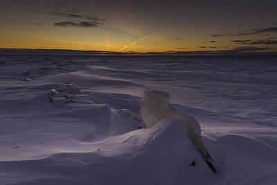 -25 Freezing Sunset Poster