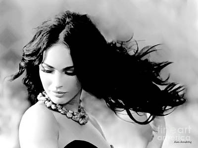 # 3 Megan Fox Portrait Poster by Alan Armstrong