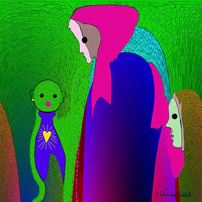 648 - Little Monster Heart ...  Poster by Irmgard Schoendorf Welch