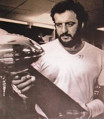 # 77 Defensive End Lyle Alzado Oakland Raiders Poster by Donna Wilson