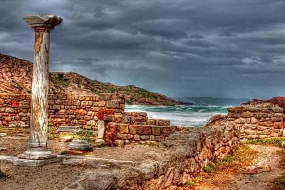 Ancient Ruins In Kefalos Kos Greece Poster