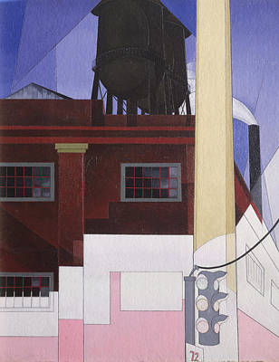 .... And The Home Of The Brave, 1931 Oil On Composition Board Poster by Charles Demuth