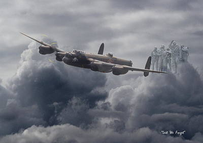 Avro Lancaster - Aircrew Remembrance Poster by Pat Speirs