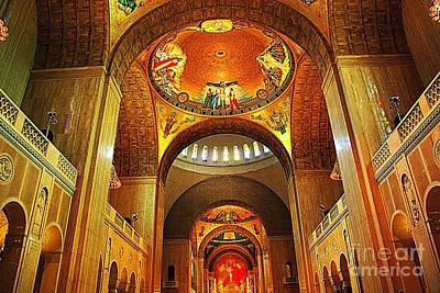Poster featuring the photograph  Basilica Of The National Shrine Of The Immaculate Conception by John S
