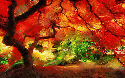 Poster featuring the painting  Beautiful Autumn by Georgi Dimitrov