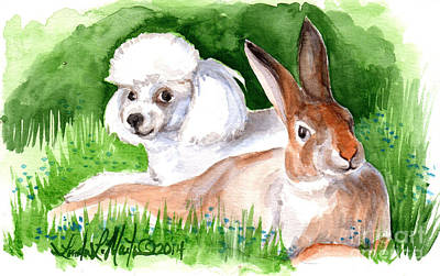 Poster featuring the painting  Best Friends by Linda L Martin