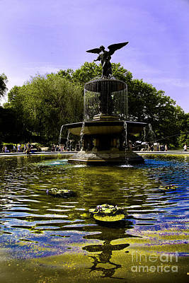 Bethesda Fountain - Central Park  Poster by Madeline Ellis