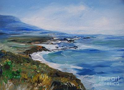 Poster featuring the painting  Big Sur Coastline by Eric  Schiabor