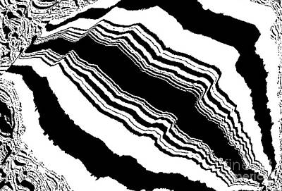 Black And White Abstract Art No.59 Poster by Drinka Mercep
