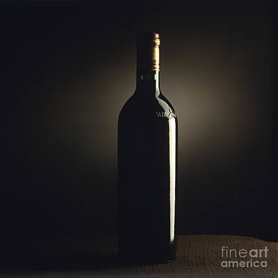Bottle Of Bordeaux Wine Poster