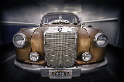 Poster featuring the photograph  Boxed-in-benz...... by Russell Styles