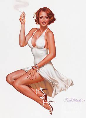 Camel Girl In White Poster