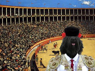 Cao Da Serra De Aires - Portuguese Sheepdog Art Canvas Print Poster by Sandra Sij