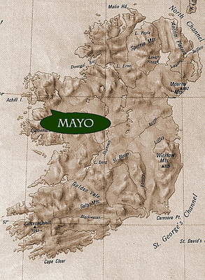 County Mayo  Ireland Poster by Val Byrne