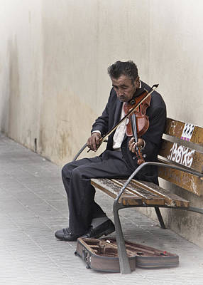 Cry My Violin  Poster by Yelena Rozov