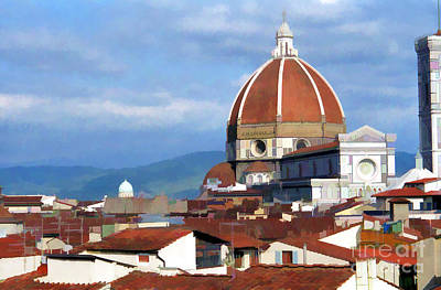 Poster featuring the photograph  Duomo Of Florence # 3 by Allen Beatty
