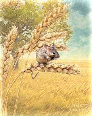 Poster featuring the digital art  Field Mouse by Trudi Simmonds